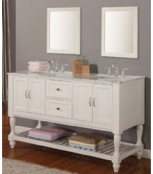 60inc white double sink bathroom vanities s3104
