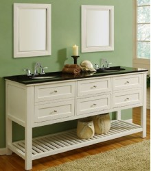 70inc white double sink bathroom vanities s3107