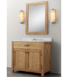 WNUT01-36 wooden bathroom vanity in light walnut color