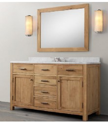 WNUT01-55 wooden bathroom vanity in light walnut color
