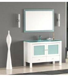 W09 Bathroom vanity cabinet in white color