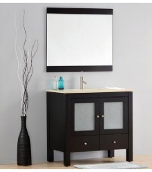 ES04 Wooden bathroom vanity cabinet with espresso color