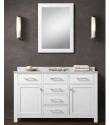 55inc wooden bathroom vanity in white W07
