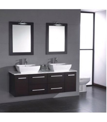 70inc double sinks bathroom cabinet S751