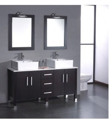 60inc double sinks bathroom vanity S754