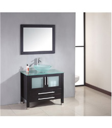 36inc Glass sink bathroom vanity S755