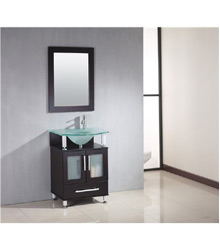 20inc glass basin bathroom vanity S762