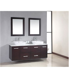 60inc double sinks bathroom cabinet S765