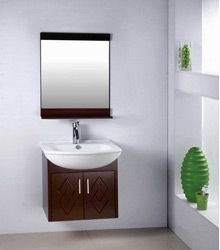 wall mounting small wooden bathroom furniture