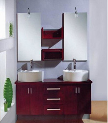 60inc double sinks bathroom vanities cabinets S4402