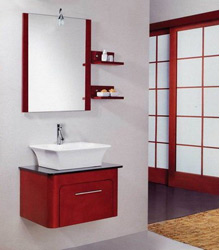 lovely wall mounting wooden bathroom furniture S441