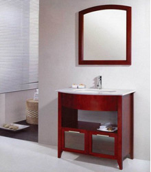S442 dark brown solid wooden bathroom furniture