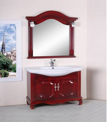 solid wooden bathroom cabinet