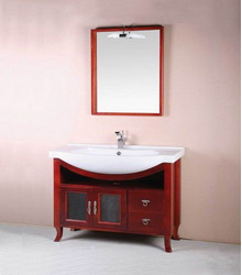 contemporary wooden bathroom furniture S449