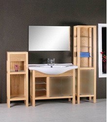 varnish wooden bathroom furniture S451