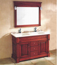 double basins wooden bathroom furniture S4522