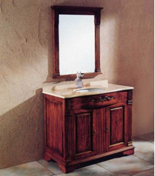S455 antique style wooden bathroom furniture