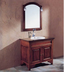 S456 antique american style wooden bathroom furniture