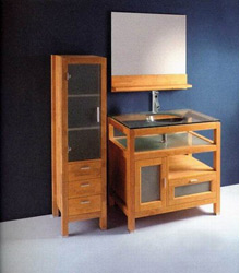 varnish finish wooden bathroom furniture S4572