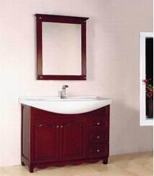 solid oak wooden bathroom furniture S4592