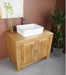 natural wooden color bathroom furniture S467