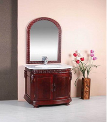 classical wooden bathroom cabinet S469