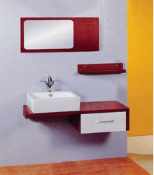 wall mounting wooden bathroom furniture S473