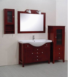sectional wooden bathroom furniture S475