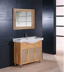 natural wooden color bathroom cabinet S477